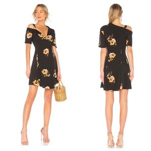 A.L.C. Floral Mini Silk Wrap Dress